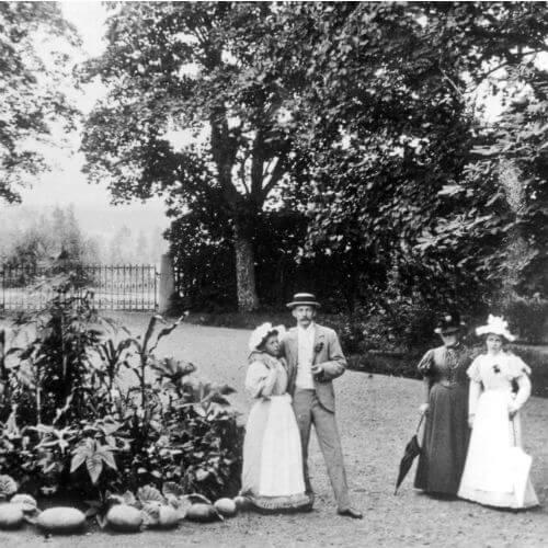 Bruzaholm Gårdsplanen 1895